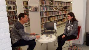 Levende Boeken in de bibliotheek: in gesprek